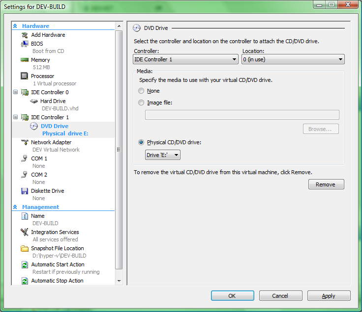 creating a virtual machine mount host drive