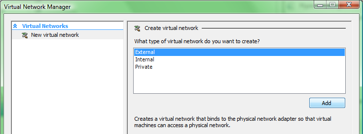 creating a virtual network