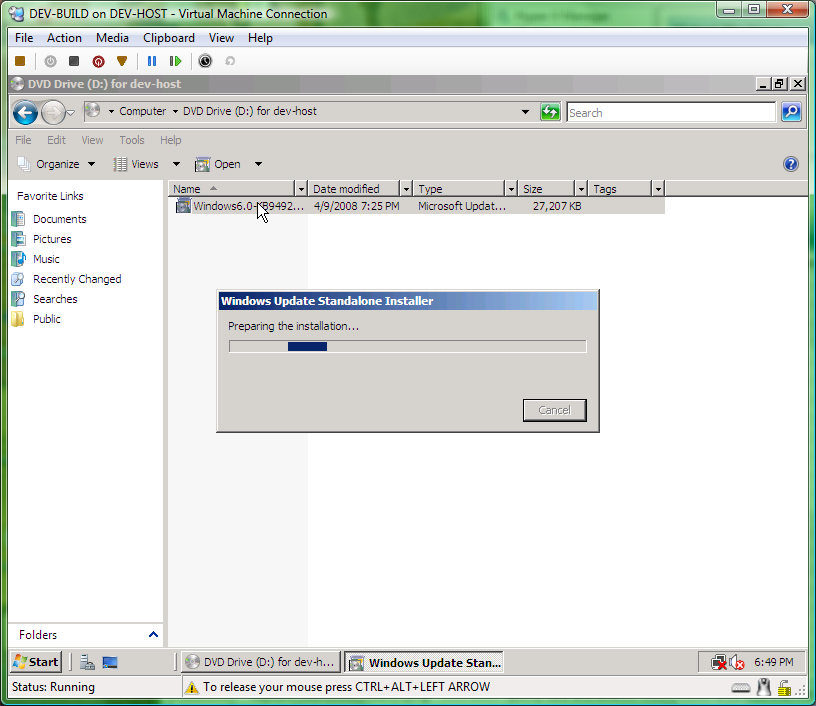 installing hyper-v rc0 from iso
