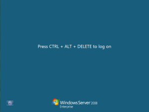 windows server core ctrl-alt-del